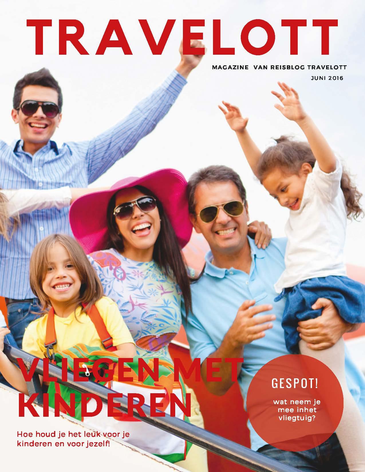 Vliegen met kinderen reismagazine van Travelott
