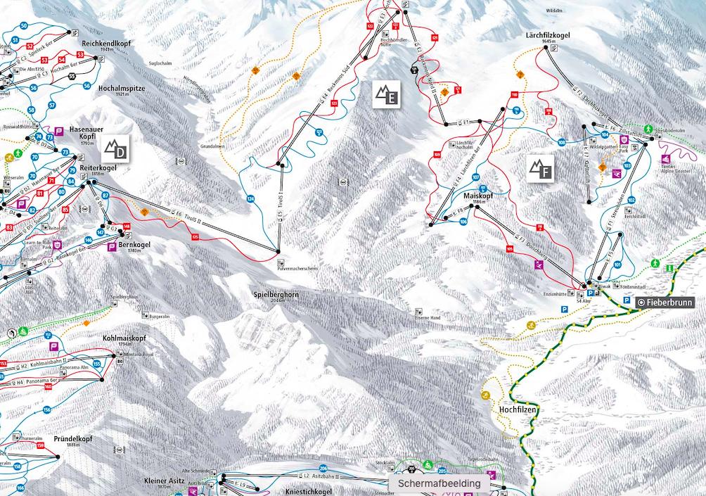 skigebied Fieberbrunn