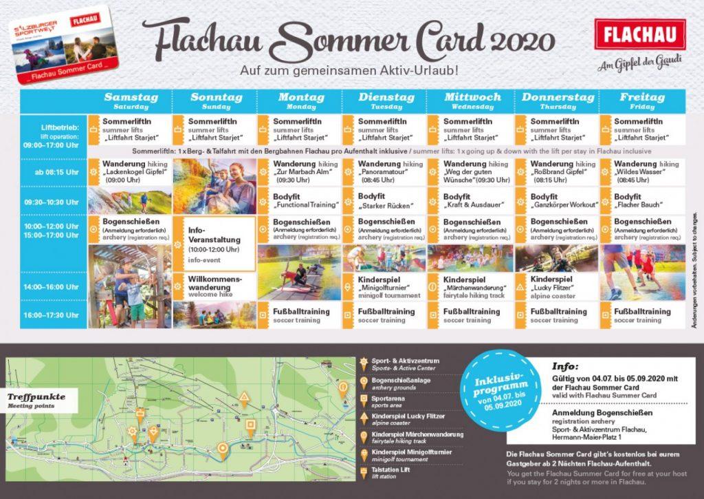 Flachau zomer programma